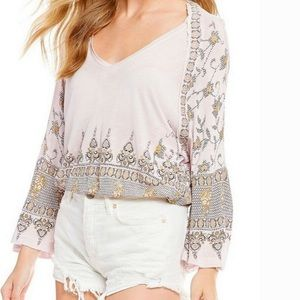 FREE PEOPLE MEDALLION PRINT TOP NWT